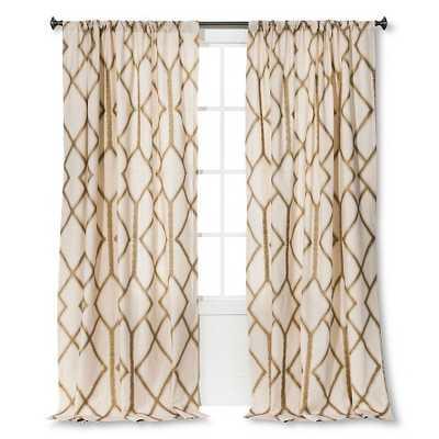 "Metallic Curtain Panel, Gold - 54""W x 95""L - Target"