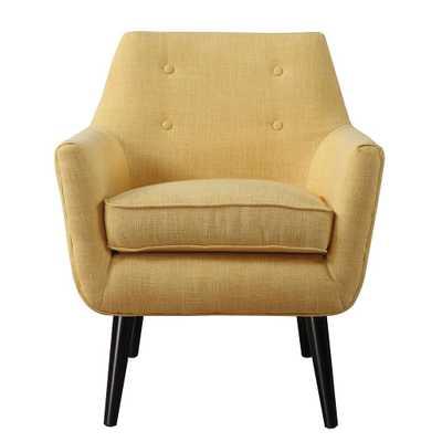 Maliyah Mustard Yellow Linen Chair - Maren Home