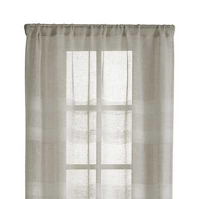 "Shorewood 50""x84"" Natural Linen Curtain Panel - Crate and Barrel"