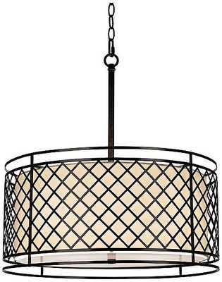 Lattice 4-Light Bronze Pendant Light - Lamps Plus