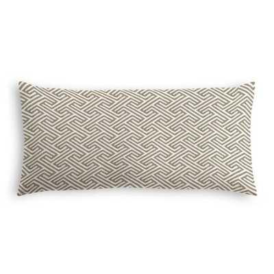 Taupe Geometric Maze Lumbar Pillow - Loom Decor