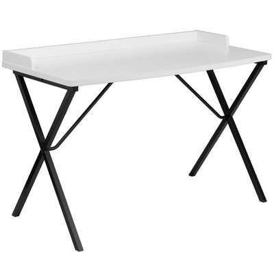 Ledge Writing Desk - White - Wayfair