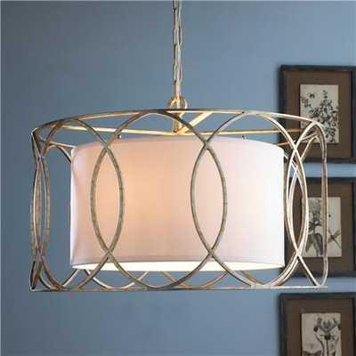 Drum Shade Circlet Lantern-Aged Silver - Shades of Light