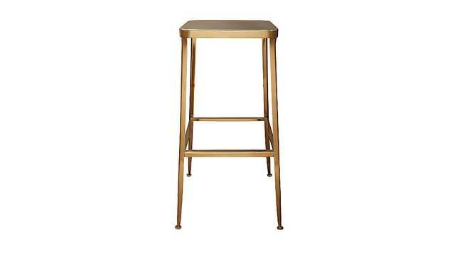 """Flint gold 30"""" bar stool - CB2"""
