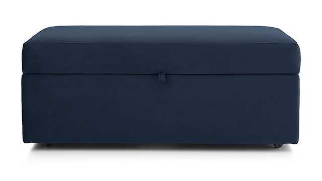 Lounge II Storage Ottoman with Tray - VIEW NAVY - Crate and Barrel