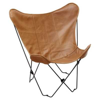 Leather Sling Butterfly Chair - Pottery Barn Teen