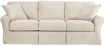 "Mayfair Slipcovered Long Sofa - Classic Natural Twill - 95"" - Home Decorators"