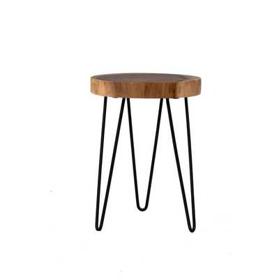 East At Main's Laredo Brown Teakwood Round Accent Table - Overstock