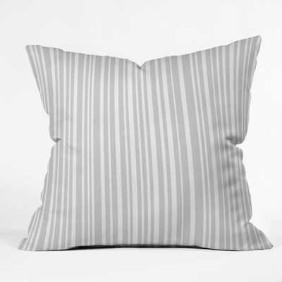 DOVE STRIPE-18 x 18. pillow with insert - Wander Print Co.