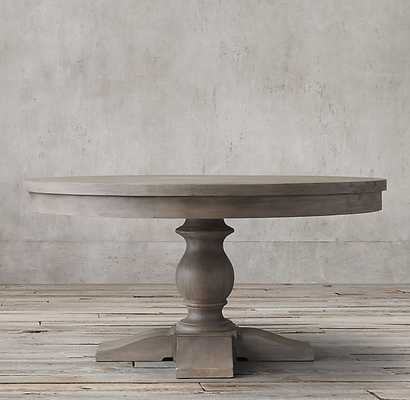 """17TH C. PRIORY ROUND DINING TABLE- 60"""" -Weathered Grey - RH"""