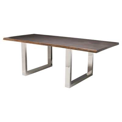 """Zinnia Industrial Dining Table - 78"""" - Kathy Kuo Home"""