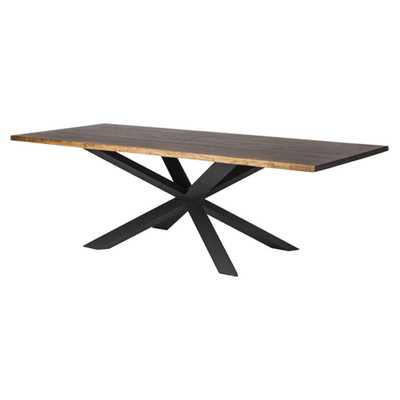 """Prudence Modern Classic Dining Table - Black - 96"""" - Kathy Kuo Home"""