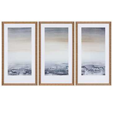 Sable Island - Set of 3 - Gold Frame with Mat - Z Gallerie