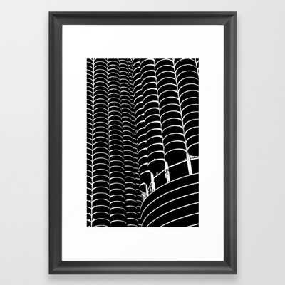 FRAMED ART PRINT SCOOP BLACK SMALL - Society6