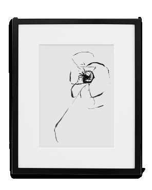 "Art Print -13"" x 19"" - art print,  black frame w/ wire, no mat - Simply Framed"