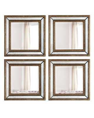 Two Norlina Square Wall Mirrors - Horchow