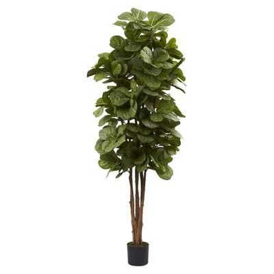 Nearly Natural 6' Fiddle Leaf Fig Tree - Target
