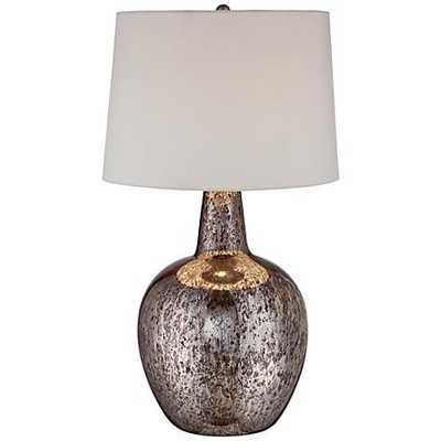 Nita Distressed Silver Glass Table Lamp - Lamps Plus