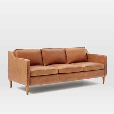 "Hamilton Leather Sofa- 81"", Sienna - West Elm"