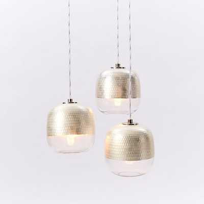 Metallic Honeycomb Chandelier - 3-Light - West Elm
