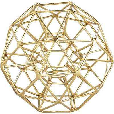 Max brass small sculpture - CB2