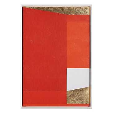 Structured Mandarin - White floater frame - No Mat - Z Gallerie