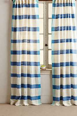 "Sanaga Stripe Curtain - Blue - 108"" x 50"" - Anthropologie"