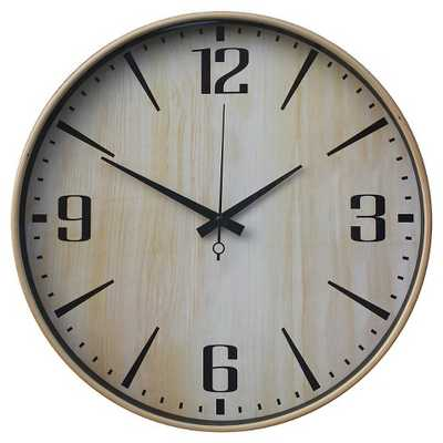 "Wall Clock Wood Grain 16"" - Target"