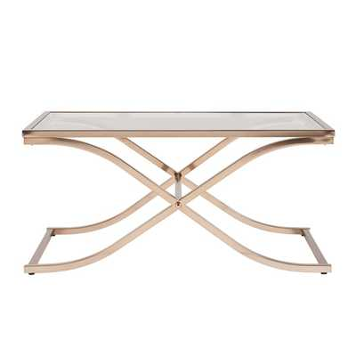 Harper Blvd Ambrosia Champagne Brass Cocktail/ Coffee Table - Overstock