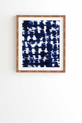 """PARALLEL Wall Art - 11"""" x 13"""" - Framed (Bamboo), No Mat - Wander Print Co."""