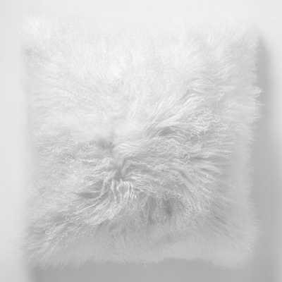 "Mongolian Lamb Pillow Cover - 16""x16"" - West Elm"