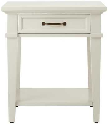 Martin End Table - Ivory - Home Depot