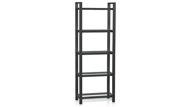 Pilsen Graphite Bookcase - Crate and Barrel