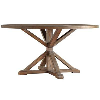 SIGNAL HILLS Benchwright Rustic X-base 60-inch Round Dining Table - Pine finish - Overstock