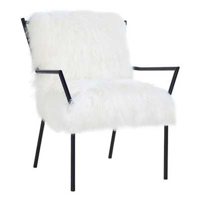 Laurel White Sheepskin with Black Frame - Maren Home