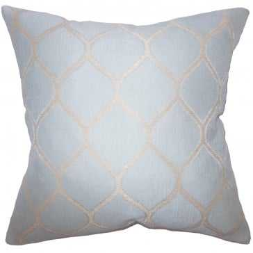 "Amisquew Geometric Pillow - 18""x18"" - Poly Insert - Linen & Seam"