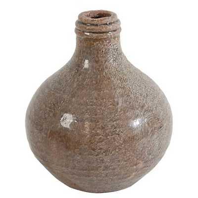 """Natural Finish Earthenware Bottle Vase - 7.3"""" - Target"""