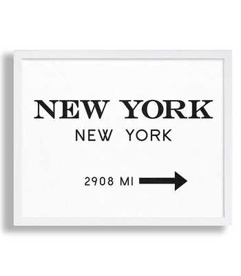 "New York City Print Typography Art Print Gift for Him Fashion Art NYC Art Prada Marfa Sign Like in Gossip Girl Print Black and White Print - 11"" x 14"" - unframed - no mat - Etsy"