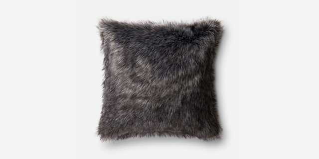 P0477 BLACK / GREY Pillow - 22x22 - No Insert - Loma Threads
