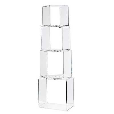 Block Tower Acrylic Bookcase - Land of Nod