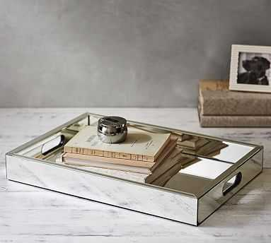 Colby Mirrored Tray - Pottery Barn