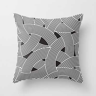 "Curve Graphic Memphis Milan Inspired Pillow - 20"" x 20"" - with insert - Society6"