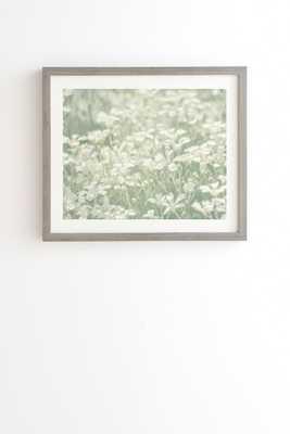 INTERLUDE Framed Wall Art - 19x22 / Weathered gray - mat - Wander Print Co.