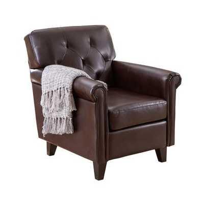 Tufted Leather Club Chair - Wayfair