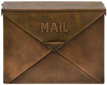 Iverson Copper Finish Mailbox - Home Decorators