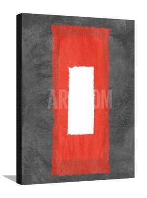 """GREY AND RED ABSTRACT 4 - Canvas - 27"""" x 37"""" - art.com"""