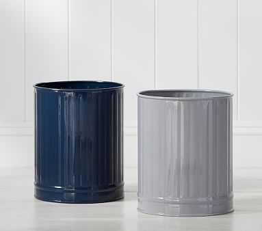 Retro Trash Can, Gray - Pottery Barn Kids