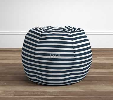 Breton Stripe Navy Anywhere Beanbag - Pottery Barn Kids