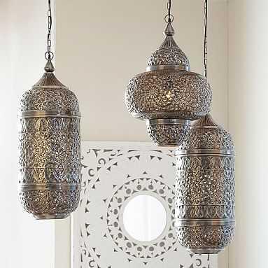 Lennon + Maisy Moroccan Pendant, Round - Pottery Barn Teen