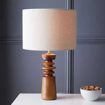 Turned Wood Table Lamp - Medium, Acorn - West Elm